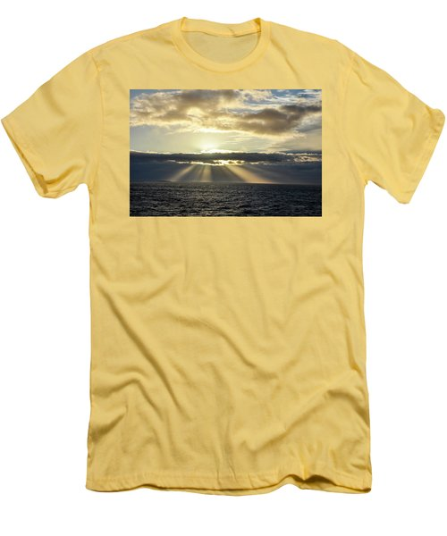 Pacific Sunset Men's T-Shirt (Slim Fit) by Allen Carroll
