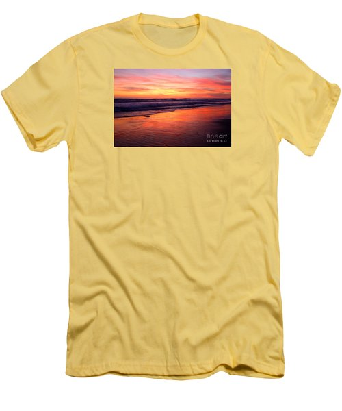 Men's T-Shirt (Athletic Fit) featuring the photograph  Cardiff Coast  by John F Tsumas