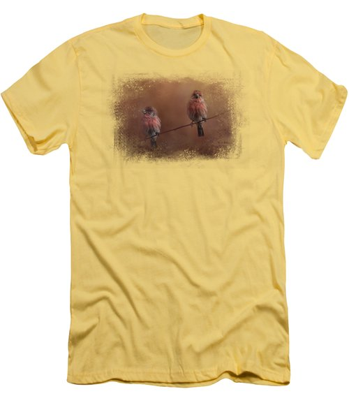 Pair Of Finches Men's T-Shirt (Slim Fit) by Jai Johnson
