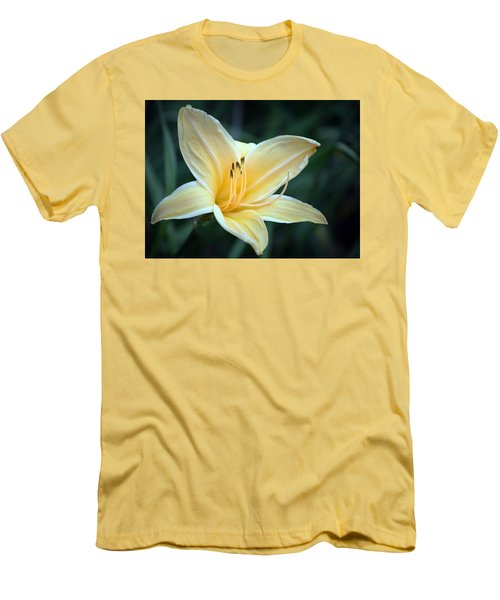 Pale Yellow Day Lily Men's T-Shirt (Athletic Fit)