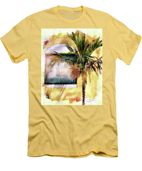 Palm And Window Men's T-Shirt (Slim Fit) by Robert Smith