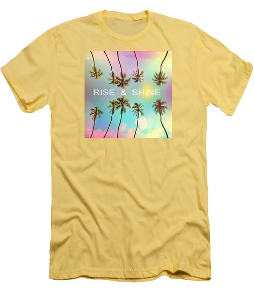 Palm Trees Men's T-Shirt (Slim Fit)