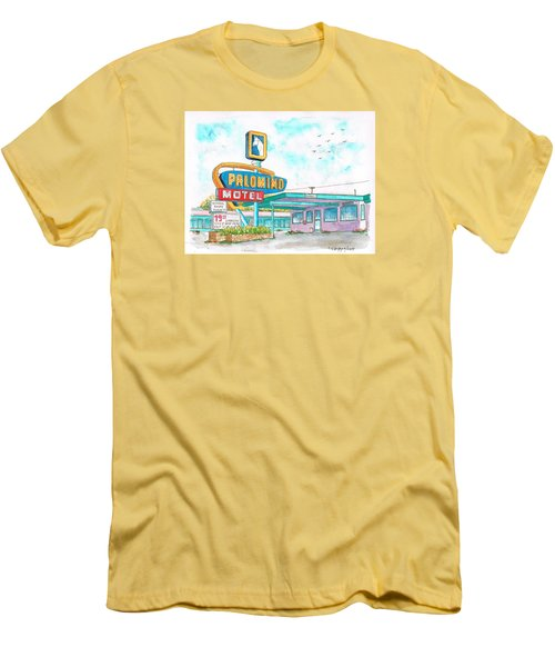 Palomino Motel In Route 66, Tucumcari, New Mexico Men's T-Shirt (Athletic Fit)
