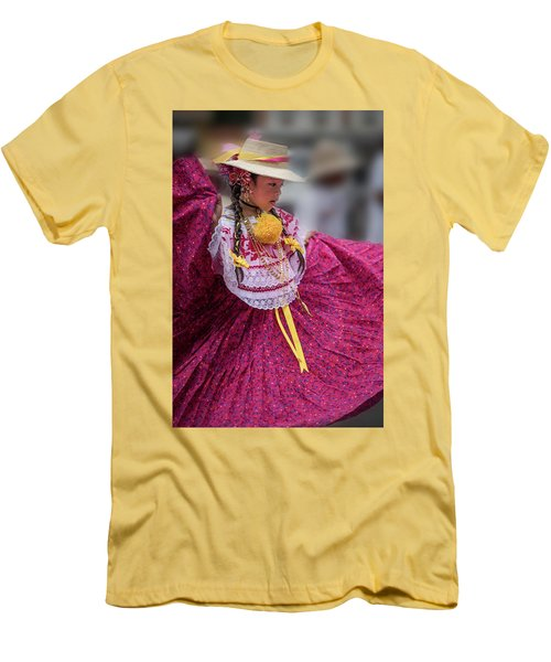 Panamanian Dancer 1 Men's T-Shirt (Athletic Fit)
