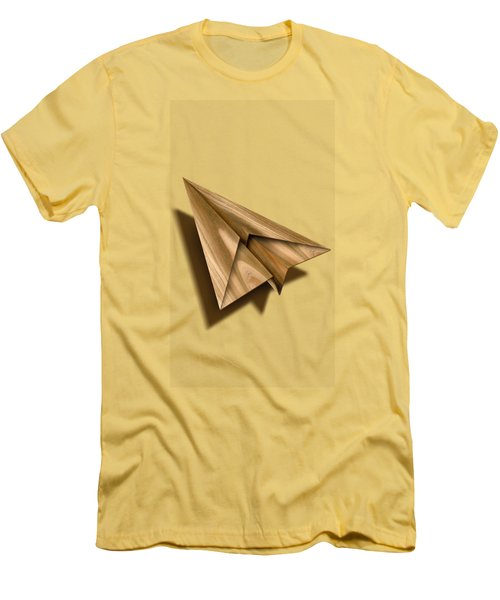 Paper Airplanes Of Wood 1 Men's T-Shirt (Slim Fit) by YoPedro