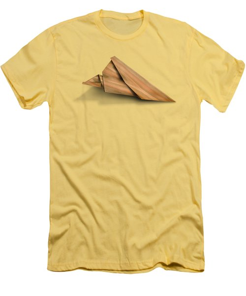 Paper Airplanes Of Wood 2 Men's T-Shirt (Slim Fit) by Yo Pedro