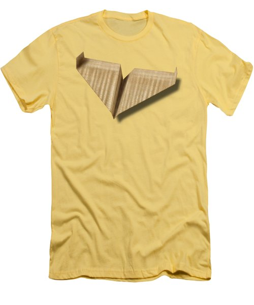 Paper Airplanes Of Wood 8 Men's T-Shirt (Slim Fit) by YoPedro