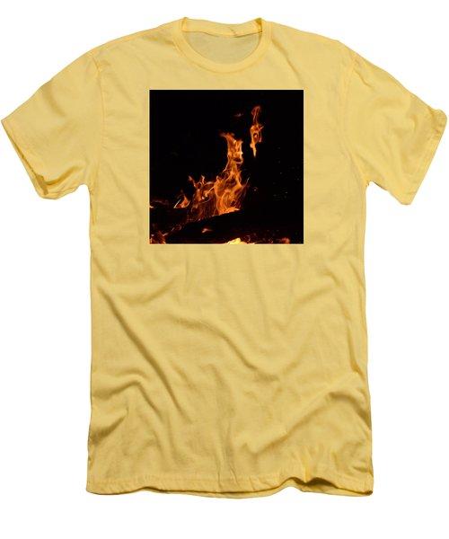 Pareidolia Fire Men's T-Shirt (Athletic Fit)