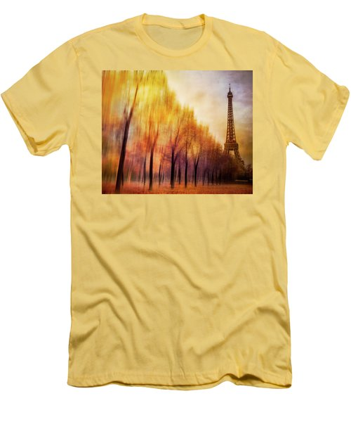 Paris In Autumn Men's T-Shirt (Slim Fit) by Marty Garland