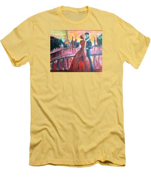Paris Lovers Men's T-Shirt (Slim Fit) by Roxy Rich