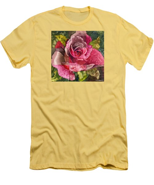 Partitioned Rose IIi Men's T-Shirt (Athletic Fit)