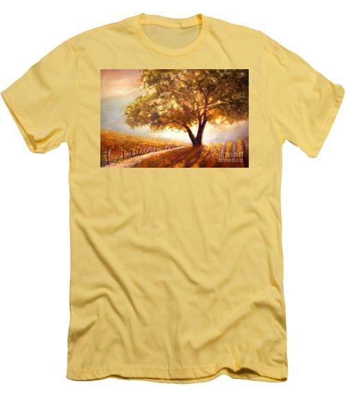 Paso Robles Golden Oak Men's T-Shirt (Slim Fit) by Michael Rock