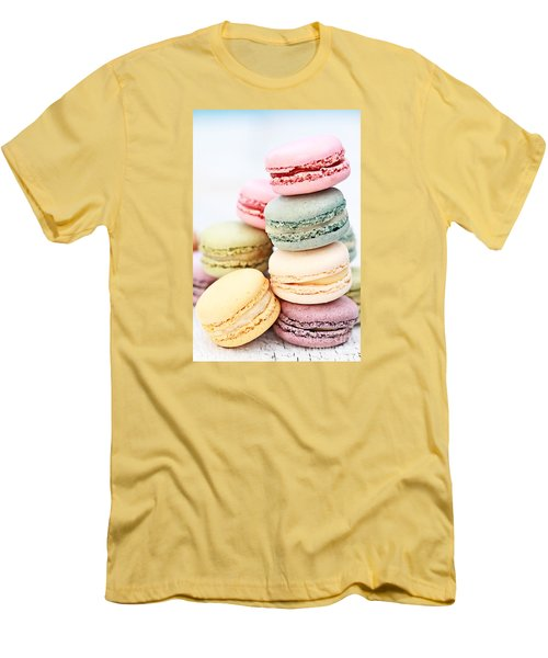 Pastel Macarons Men's T-Shirt (Slim Fit) by Stephanie Frey