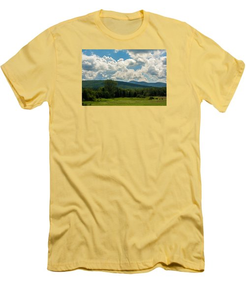 Pastoral Landscape With Mountains Men's T-Shirt (Slim Fit) by Nancy De Flon