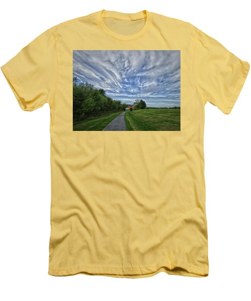 Path Men's T-Shirt (Slim Fit) by Robert Geary