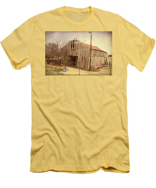 Men's T-Shirt (Slim Fit) featuring the photograph Paul's Barn by Susan Crossman Buscho