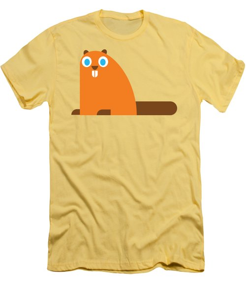 Pbs Kids Beaver Men's T-Shirt (Athletic Fit)
