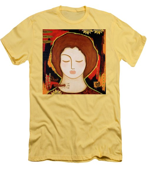 Men's T-Shirt (Slim Fit) featuring the painting Peace Messenger by Gloria Rothrock