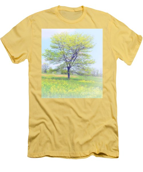 Peace On The Hillside Men's T-Shirt (Athletic Fit)