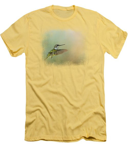 Peaceful Day With A Hummingbird Men's T-Shirt (Athletic Fit)