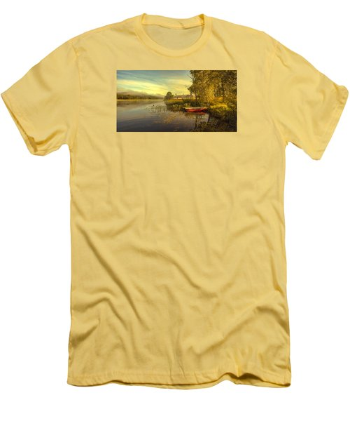 Men's T-Shirt (Slim Fit) featuring the photograph Peaceful Morning by Rose-Maries Pictures