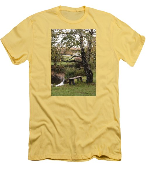 Men's T-Shirt (Slim Fit) featuring the photograph Peaceful Retreat by Margie Avellino