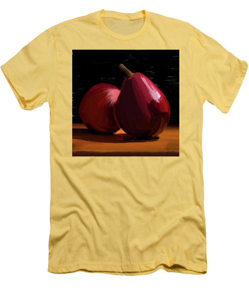 Peach And Pear 01 Men's T-Shirt (Slim Fit) by Wally Hampton