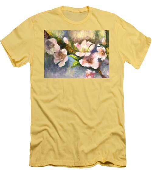 Peach Blossoms Men's T-Shirt (Athletic Fit)