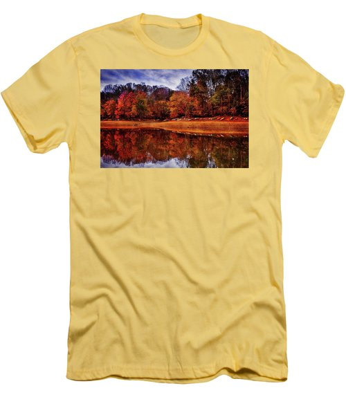 Men's T-Shirt (Slim Fit) featuring the photograph Peak? Nope, Not Yet by Edward Kreis