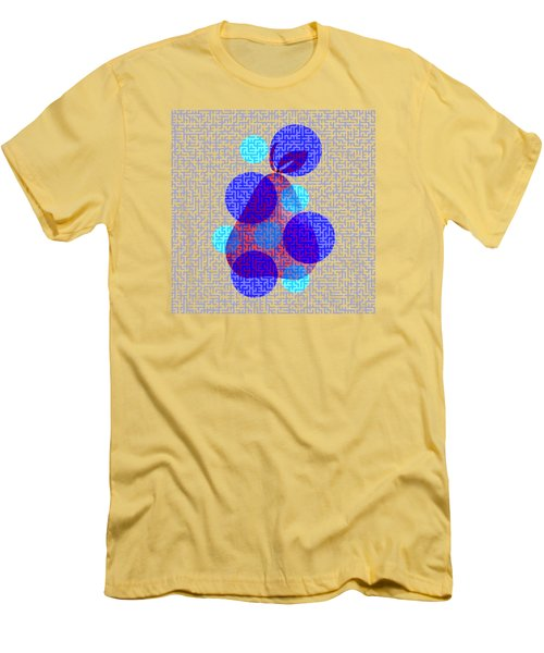 Pear In Blue Men's T-Shirt (Slim Fit) by Coco Des