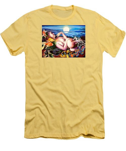 Pearl And Sea Dragon Men's T-Shirt (Slim Fit) by Yelena Tylkina