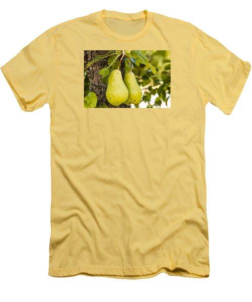 Pears 2 Of A Kind Men's T-Shirt (Slim Fit) by Teri Virbickis