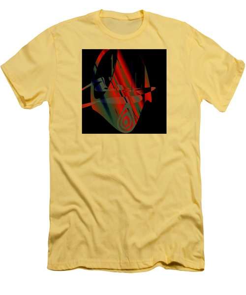 Men's T-Shirt (Slim Fit) featuring the painting Penman Original-265- We Are All Ethnic by Andrew Penman