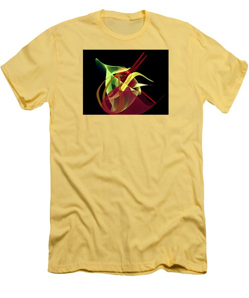 Men's T-Shirt (Slim Fit) featuring the painting Penman Original-266- Chikakos Dinner by Andrew Penman