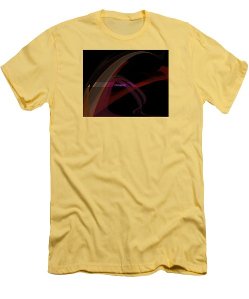 Men's T-Shirt (Slim Fit) featuring the painting Penman Original-293- A Glimmer Of Hope by Andrew Penman