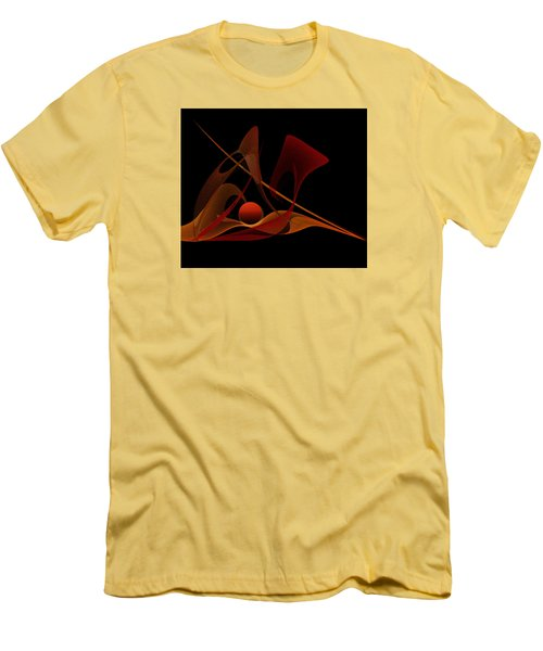 Men's T-Shirt (Slim Fit) featuring the painting Penman Original-317-natural Light-natural Growth by Andrew Penman