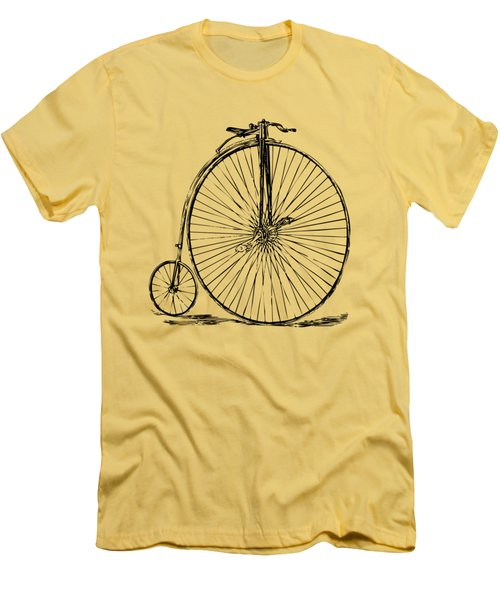 Penny-farthing 1867 High Wheeler Bicycle Vintage Men's T-Shirt (Slim Fit) by Nikki Marie Smith