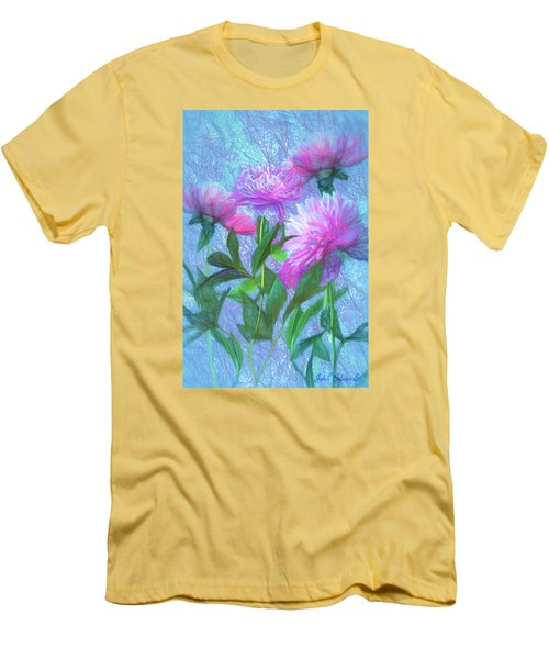 Peonies #3 Men's T-Shirt (Athletic Fit)
