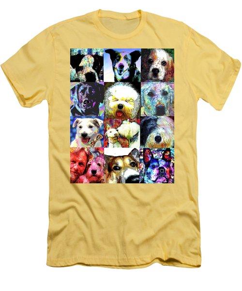 Pet Portraits Men's T-Shirt (Athletic Fit)