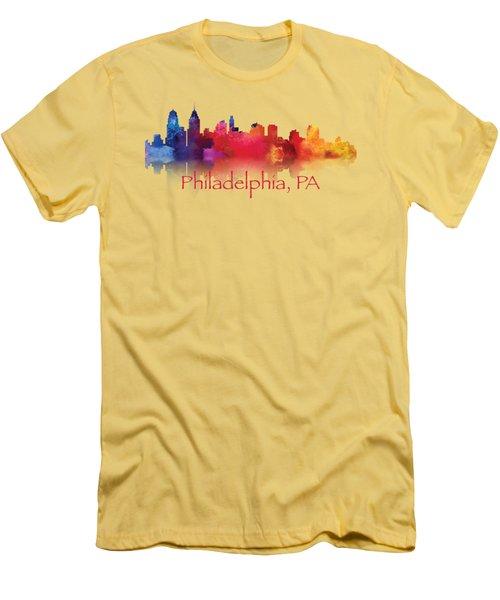 philadelphia PA Skyline TShirts and Apparal Men's T-Shirt (Slim Fit) by Loretta Luglio
