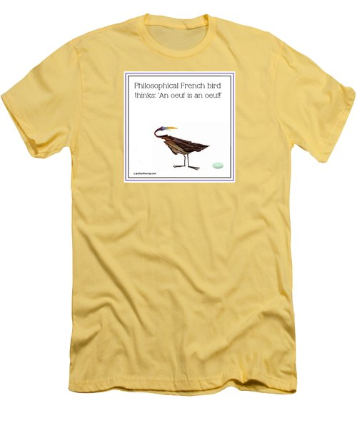 Philosophical Bird Men's T-Shirt (Slim Fit) by Graham Harrop