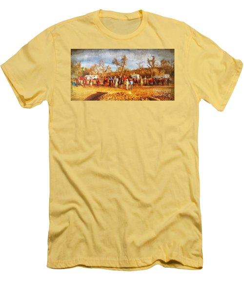 Happy Trails Men's T-Shirt (Athletic Fit)