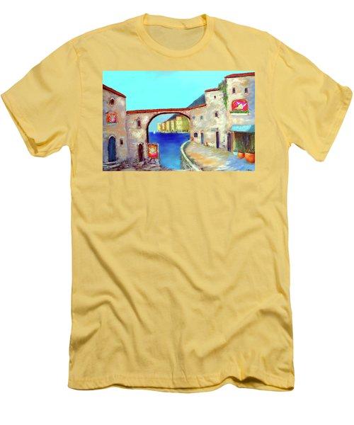 Piazza Del La Artista Men's T-Shirt (Slim Fit) by Larry Cirigliano