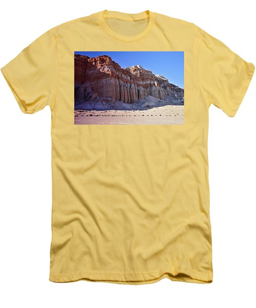 Pillars, Red Rock Canyon State Park Men's T-Shirt (Slim Fit) by Michael Courtney