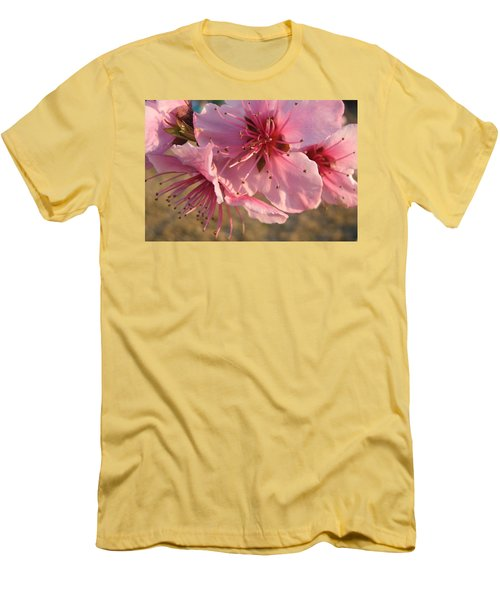 Pink Blossoms Men's T-Shirt (Athletic Fit)