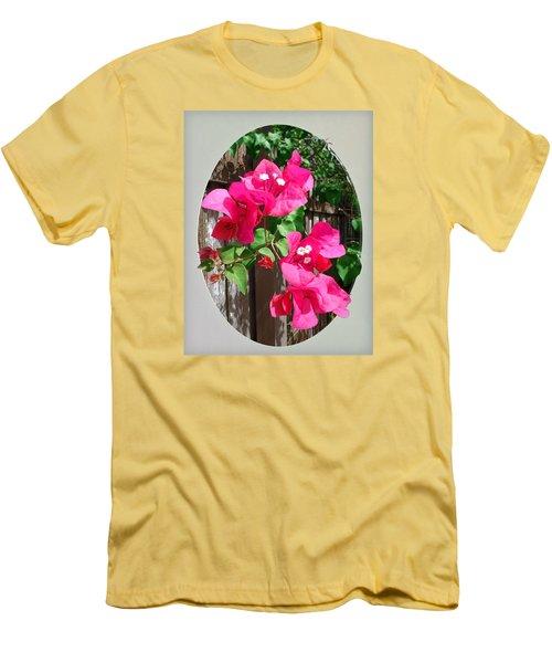 Pink Bougainvillea Men's T-Shirt (Slim Fit) by Ginny Schmidt