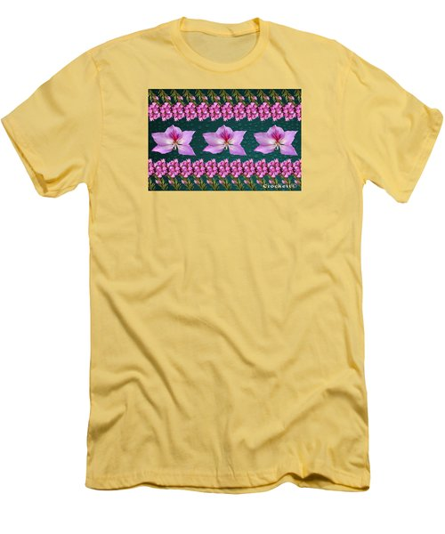 Pink Flower Arrangement Men's T-Shirt (Athletic Fit)
