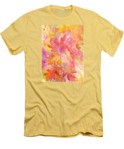 Pink Leaves Men's T-Shirt (Athletic Fit)