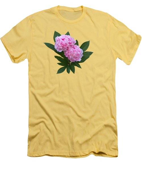 Men's T-Shirt (Slim Fit) featuring the photograph Pink Peonies by Jane McIlroy