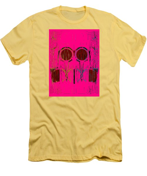 Pink Rings Men's T-Shirt (Slim Fit)